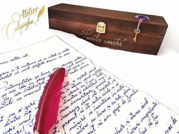 scrisori caligrafiate manual