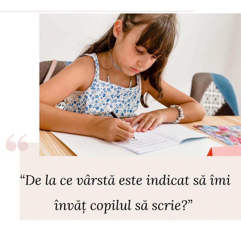 scrisul de mana al copilului
